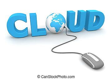 brouter, global, -, gris, souris, nuage