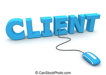brouter, les, client, -, bleu, souris