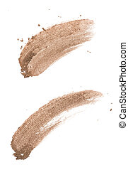 Brow color eye shadow stroke on background