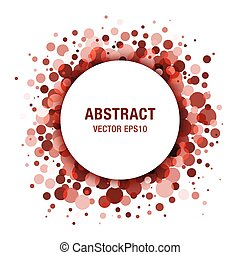 Brown Abstract Circle Frame Design Element