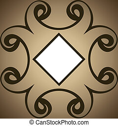 Brown abstract swirl design