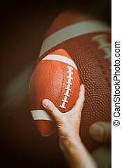 brown American Football