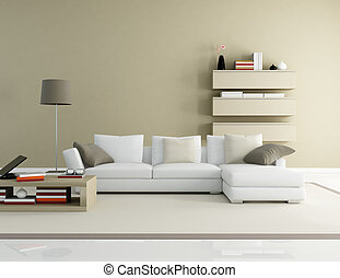 modern living room - brown and beige modern living room -...