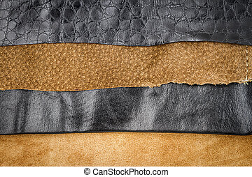 Brown and black leather textures background