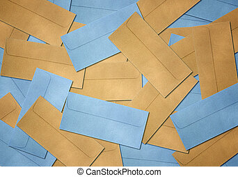 Brown and blue Envelope