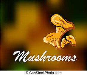 Brown and golden colored mushrooms