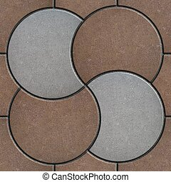 Brown and Gray Pavement in the Form of a Circle.