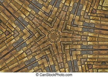 Brown and grey kaleidoscope design - Brown and gray ...