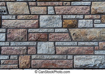 Brown and Grey Stone Wall Background