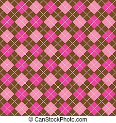 Brown and Pink Argyle - Background illustration of pink and...