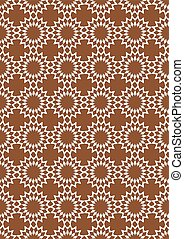 Brown and White Seamless Retro Abstract Vector Background
