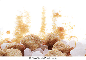brown and white sugar isolated