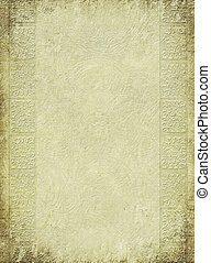 Brown antique embossed column print on textured background