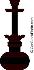 Brown arabic hookah icon isolated