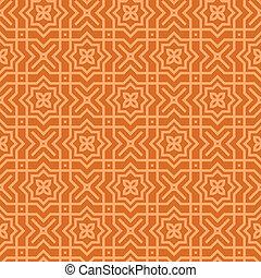 Brown Arabic Pattern
