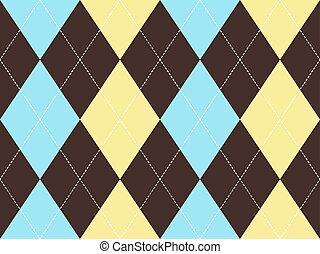 Brown argyle seamless pattern