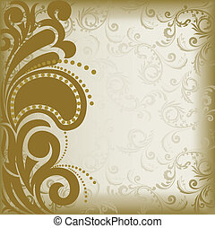 Brown asymmetric background