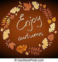 Brown autumn background