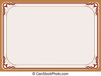 Brown background and frame