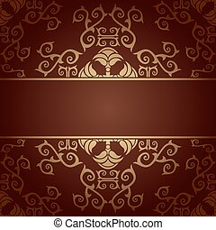 Brown background baroque vector