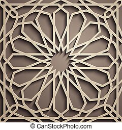 Brown background . Islamic ornament vector , persian motiff...