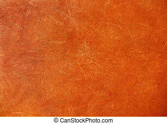 Brown background of leather