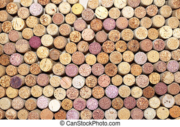 Brown background of wooden wine corks