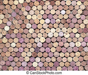 background of wooden wine corks