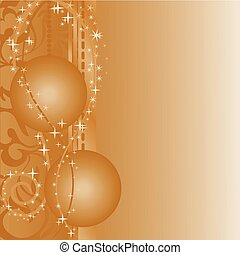 brown background with balls