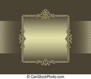 brown background with frame