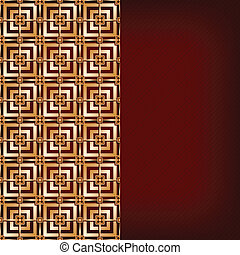 Brown background with gold pattern