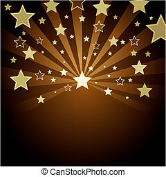 brown background with gold stars