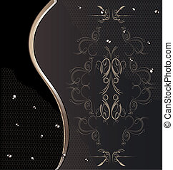 brown background with lace and drops