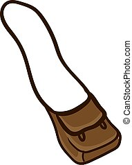 Brown bag, illustration, vector on white background.