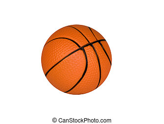 brown ball for basketball isolated over white