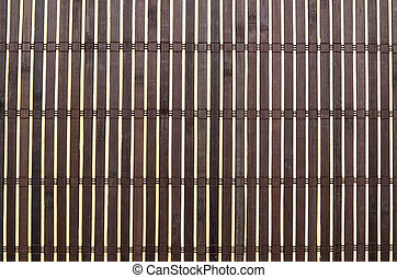 Brown bamboo mat as background