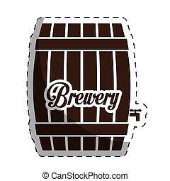 brown barrel icon image design
