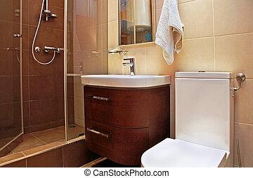 Brown bathroom small