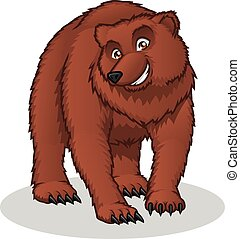 Brown Bear Cartoon - This image is a brown bear in cartoon...