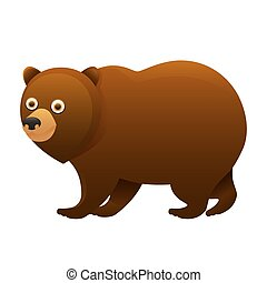 Brown bear cute cartoon character