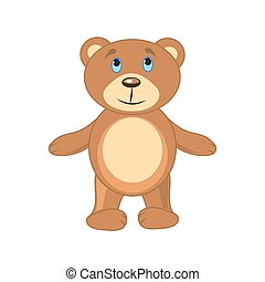 brown bear on a white background isolated