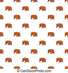 Brown bear pattern seamless