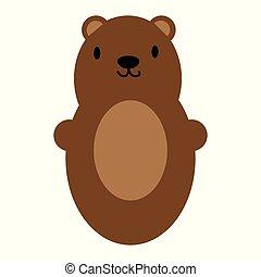 Brown bear toy icon symbol