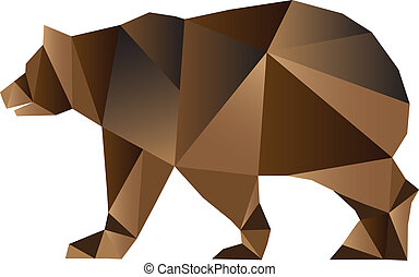 Bear triangles style - Brown Bear triangles style