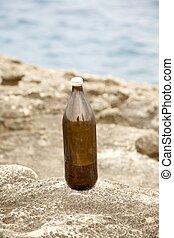 brown beer big bottle