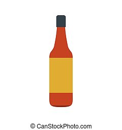 Brown beer bottle icon