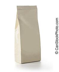 Brown Blank Foil Food Snack Sachet Bag Packaging