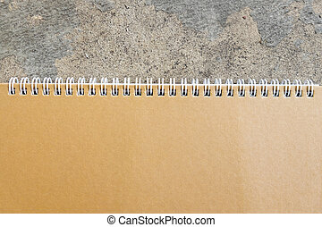 Brown blank notebook with spiral
