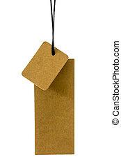 Brown blank tag
