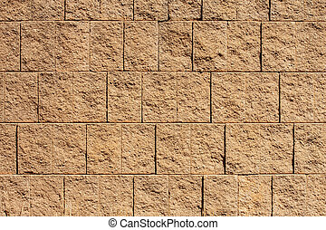 Brown Block Wall for Backgrounds or Textures